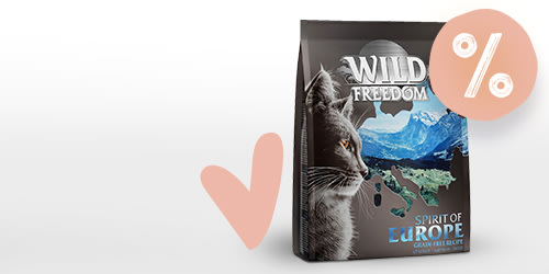 Try different flavours of Wild Freedom dry cat food for less!