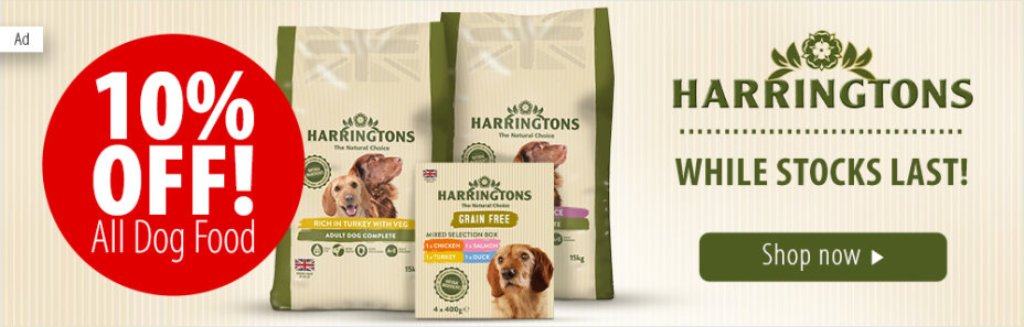 10% Off All Harringtons Dog Food