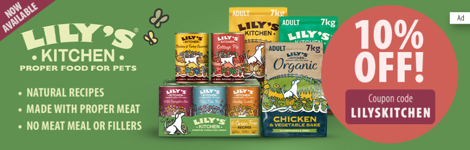 Get 10% off Lily's Kitchen!