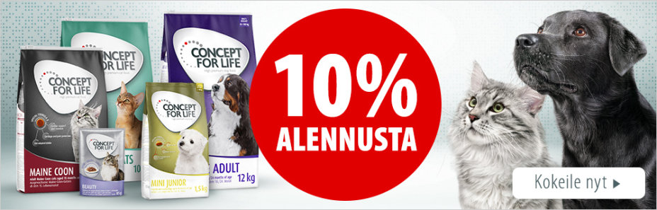 Brand Concept for Life Promotion 10% dog+cat 1000x320