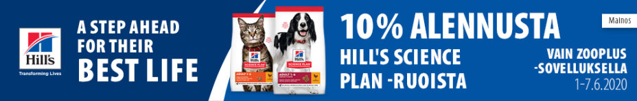 Hill's a step ahead for their best life. 10% alennusta Hill's science plan -ruoista.