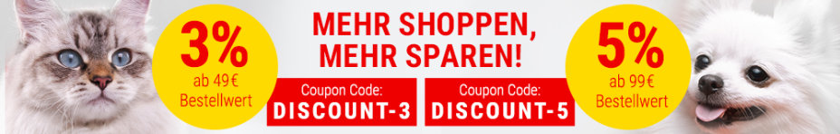 3% ab 49 € Code: DISCOUNT-3 oder 5% ab 99 € Code: DISCOUNT-5