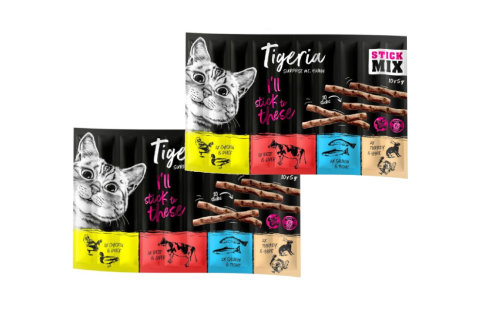 10 x 5 g Tigeria Sticks Mixpaket