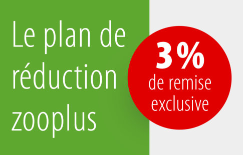 Le plan de réduction zooplus : 3 % de remise exclusive