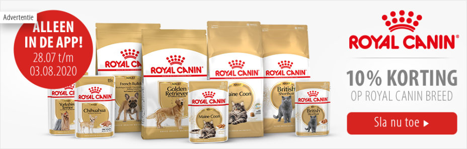 10% korting Royal Canin Breed