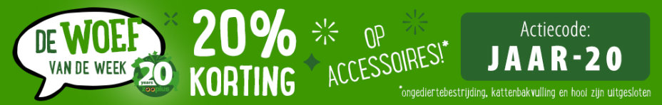 20% korting accessoires